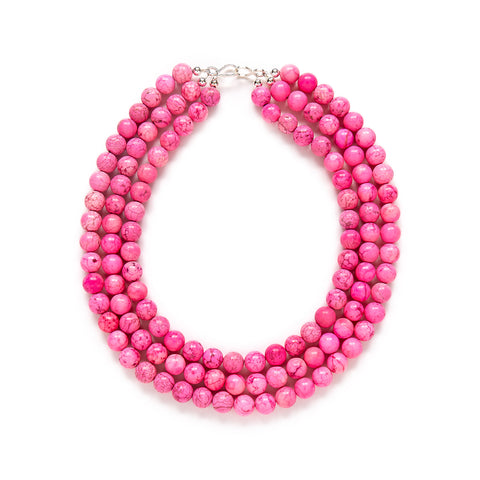 Chunky Pink Statement Necklace