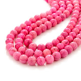 Hot Pink Three Strand Stone Necklace
