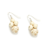 Eggshell Cluster Earrings in Ivory Magnesite