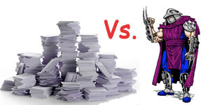 Paper versus Shredder