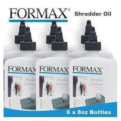 Formax High Security Paper Shredder Oil (6 x 8oz. Bottles) (Discontinued) Supplies Formax