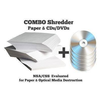 DCS 36/6 High Security COMBO Paper & Optical Media Shredder with Auto Oiler Shredders HSM