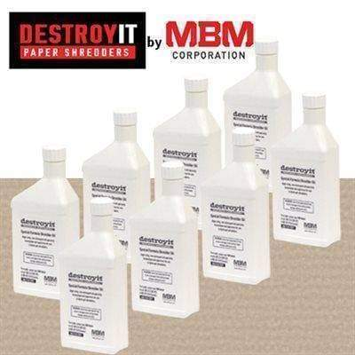 MBM Destroyit Paper Shredder Oil (8 x 1 pint) Supplies MBM Ideal