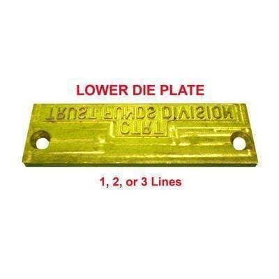 Lower Die Plate for Time & Date Stamp