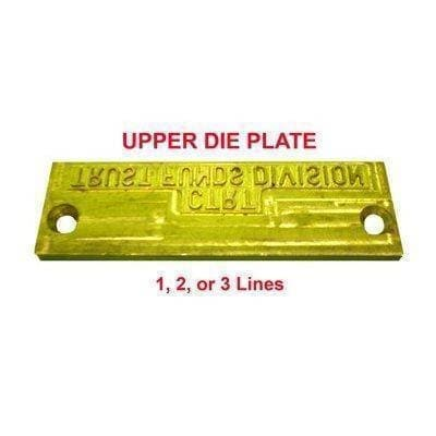 Upper Die Plate for Time & Date Stamp