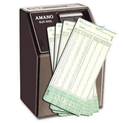 Time Cards for the Amano MJR-8000 Time Clock Supplies Amano