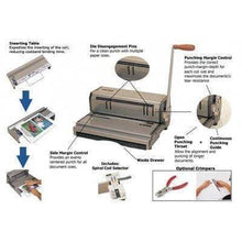 Load image into Gallery viewer, Akiles CoilMac M Manual Coil Punch with Inserting Table Binding/Punching Systems Akiles