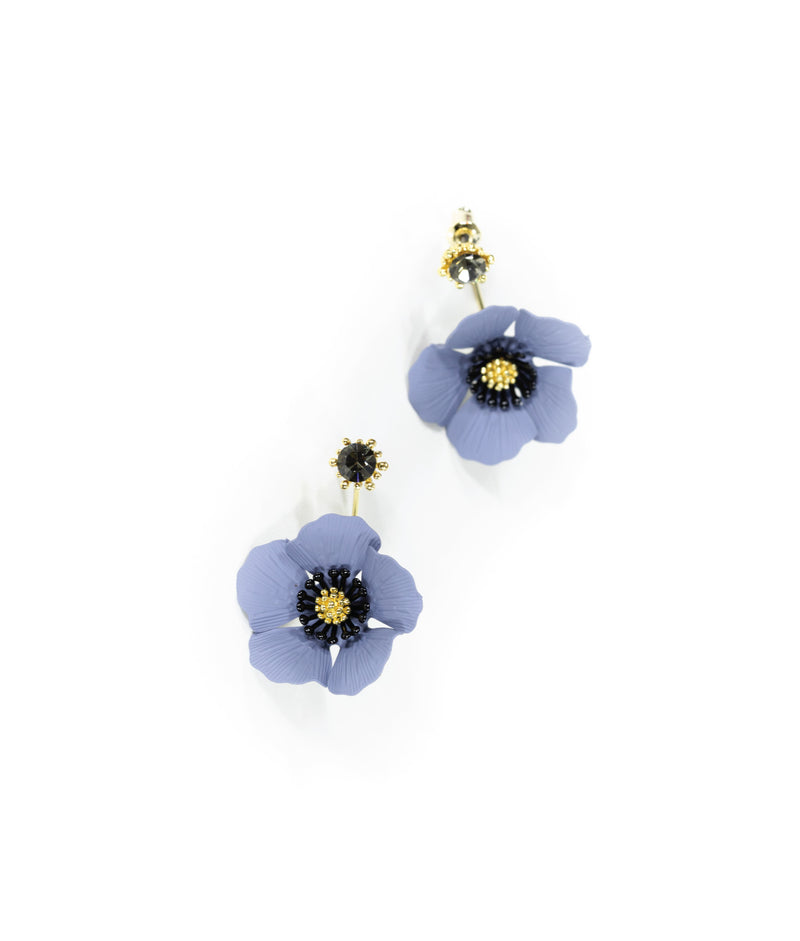 EARRINGS - Anemone Bluebell