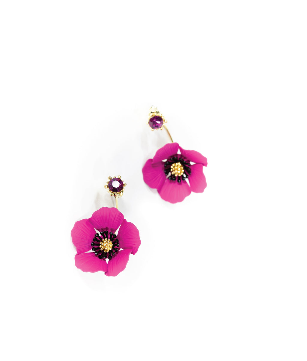 EARRINGS - Anemone Fuchsia