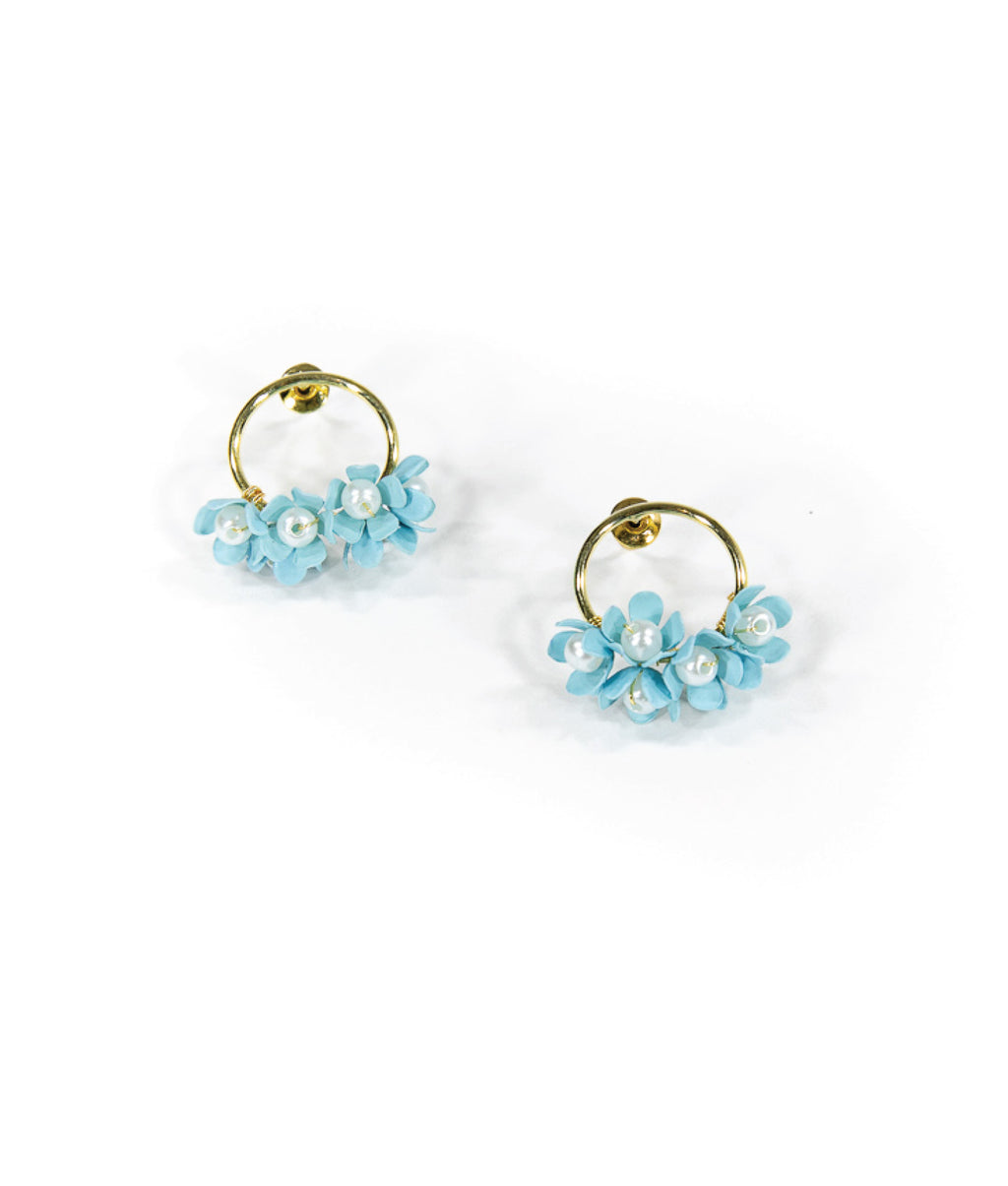EARRINGS - Aqua Bouquet