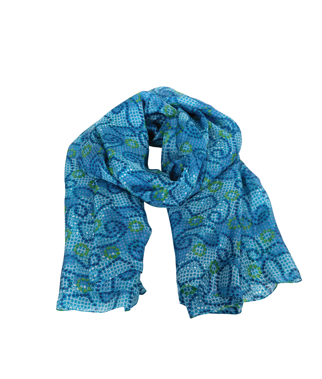 SILK Scarf - Botanical