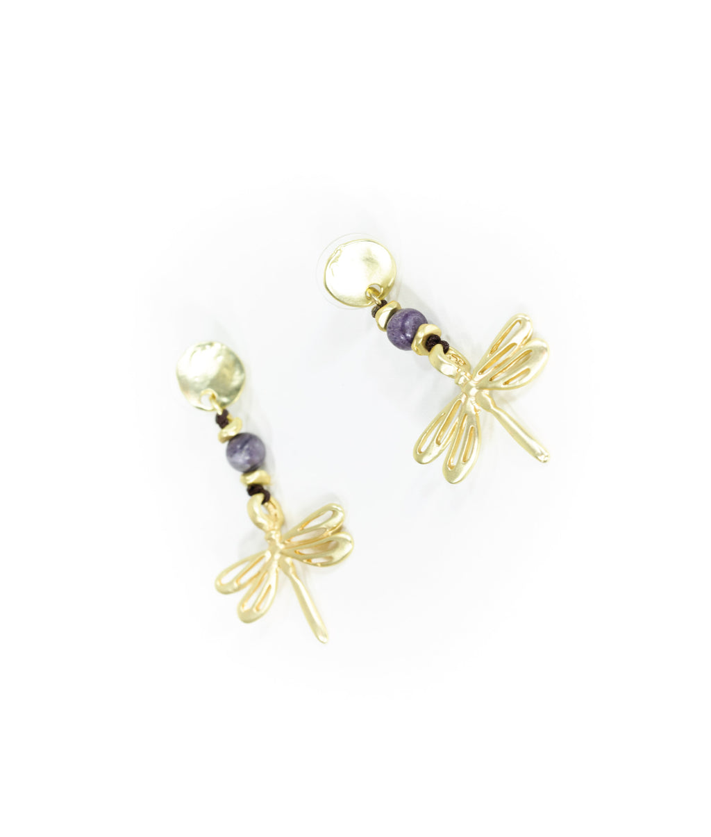 EARRINGS - Dragonfly Gold
