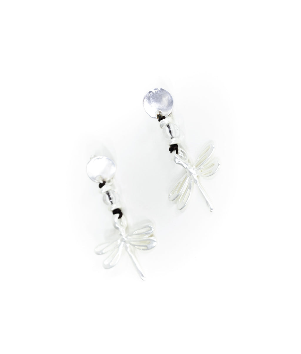 EARRINGS - Dragonfly Silver