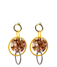 DROP EARRINGS - Geometric Ochre
