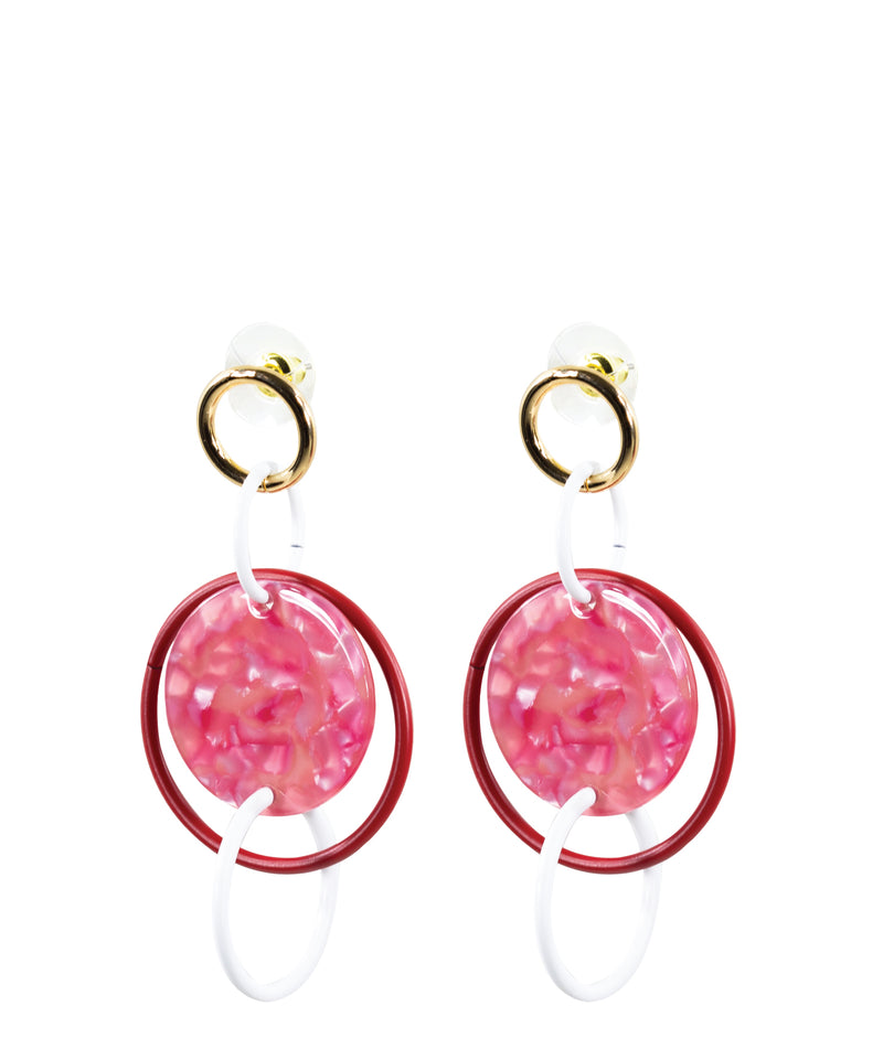 DROP EARRINGS - Geometric Red