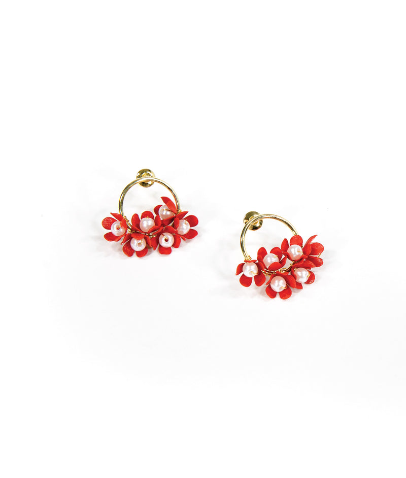 EARRINGS - Red Bouquet