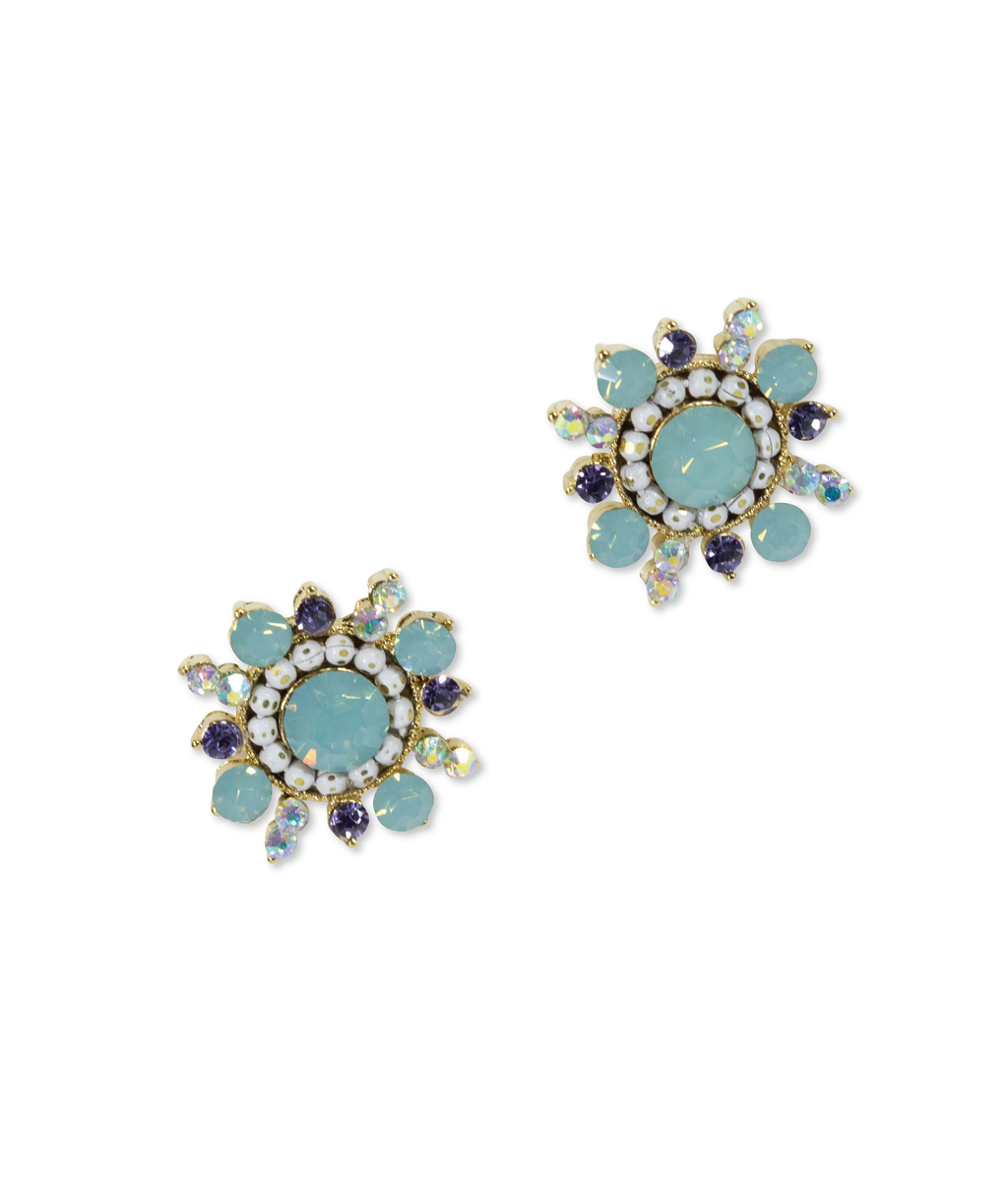 EARRINGS - Mint Starburst Stud