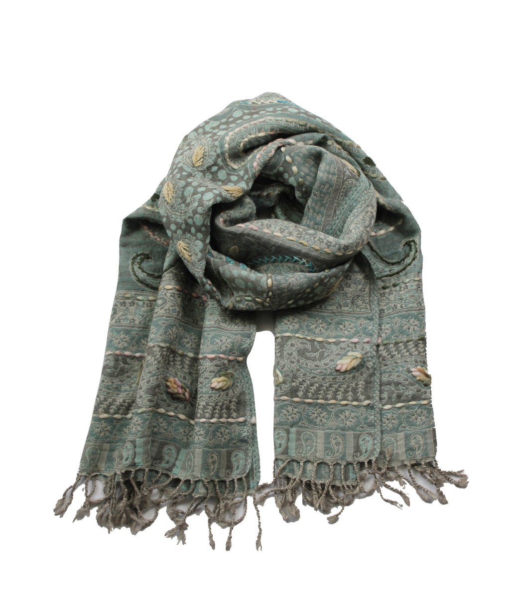 EMBROIDERED SCARF - Forget Me Not