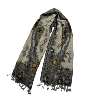 EMBROIDERED SCARF - Moonlight