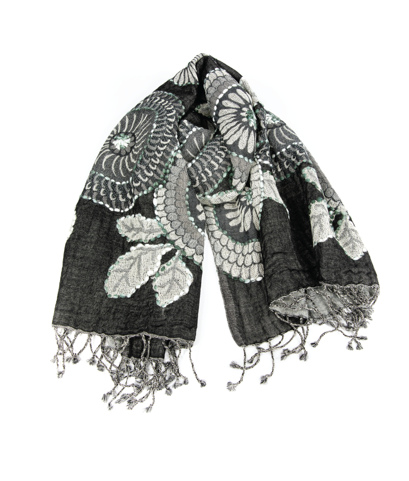WOOL Scarf - Black Magic