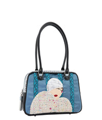 ZANDRA Shoulder Bag - Queen of Hearts Blue