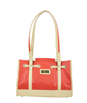 CAMILLA Shoulder Tote - Poppy