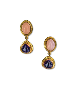 EARRINGS - Pink Amethyst Drop