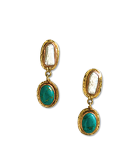 EARRINGS - Pearl Turquoise Drop