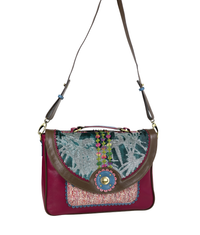 MAGDALENA Crossbody Satchel - Botanical