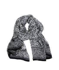 SILK Scarf - Salt + Pepper