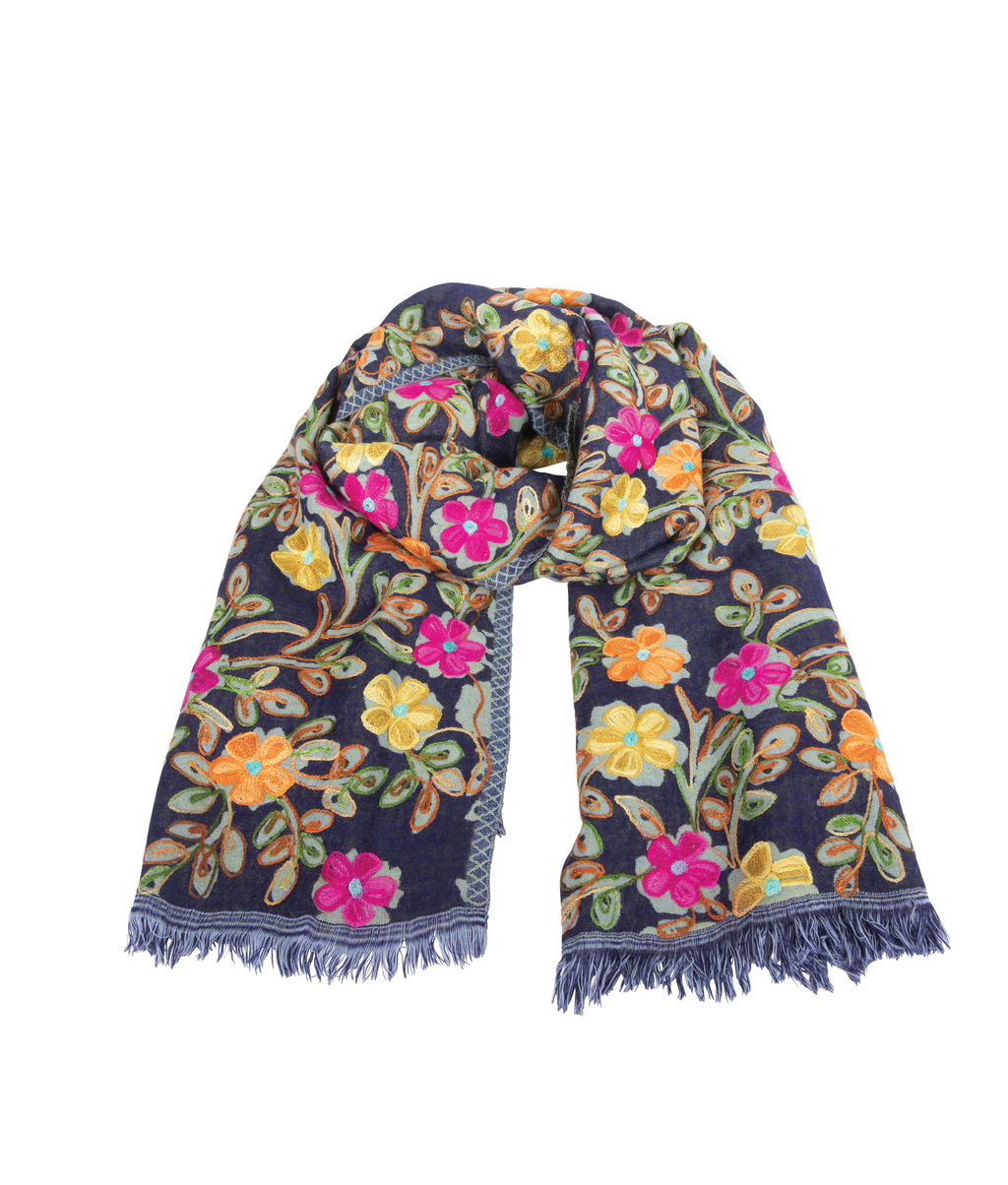 WOOL Scarf - Electric Garden