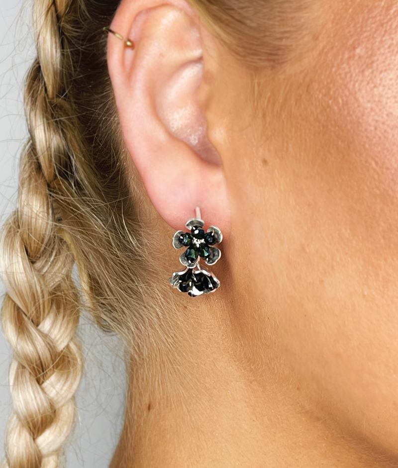 EARRINGS - Paloma Onyx Hoop