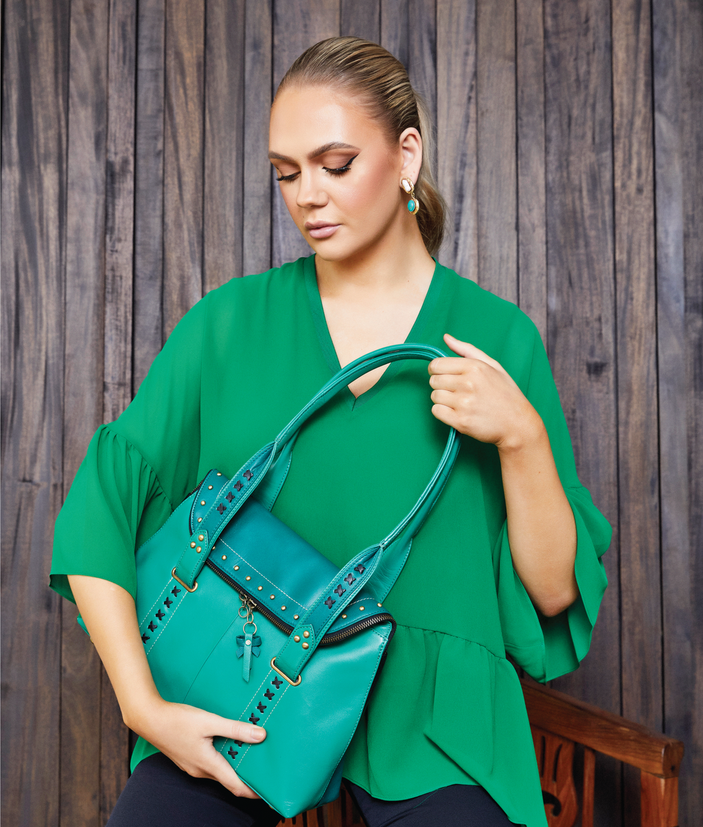 UNA Shoulder Bag - Emerald