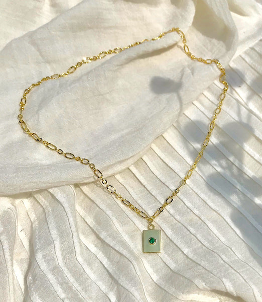 Luciene Necklace with Emerald