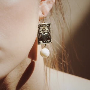 Marisol Earrings with Baroque Pearl