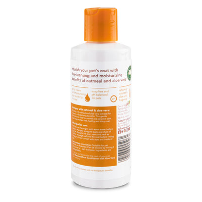 "Pet Shampoo with Oatmeal and Aloe Vera <br><h3 class=""subtitle"">i'm the gentle type</h3>"