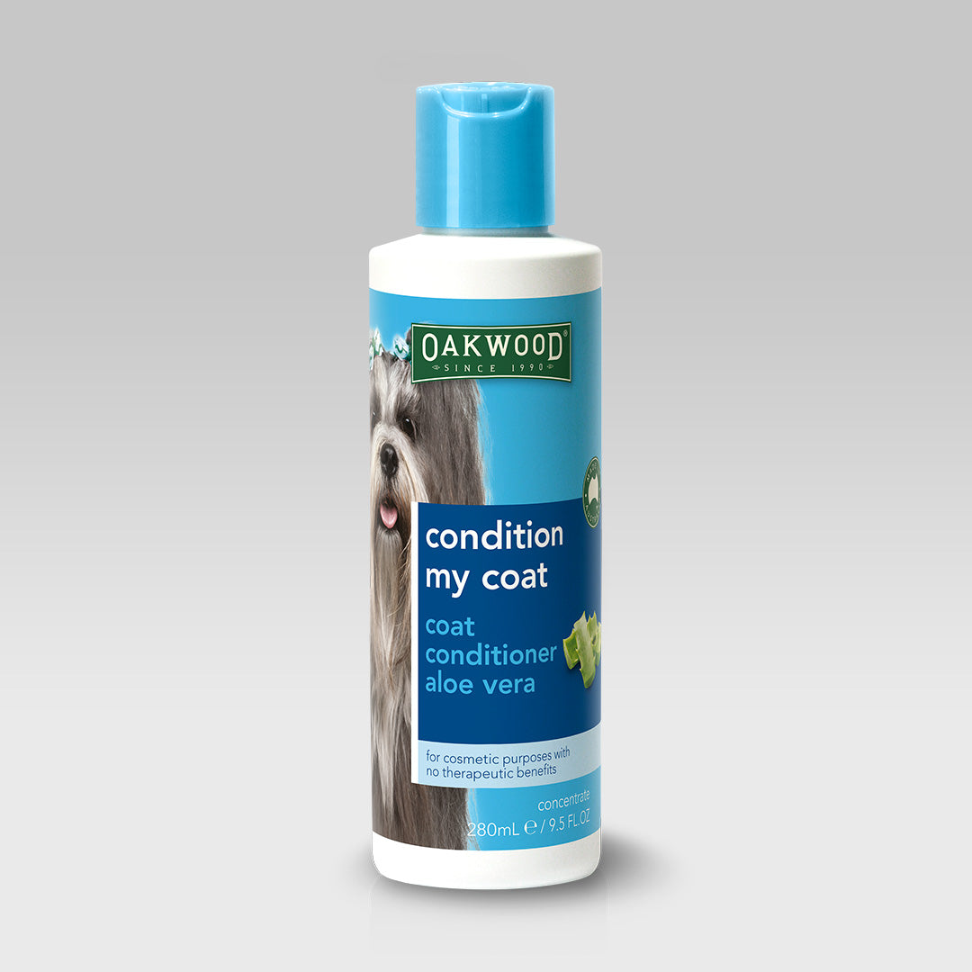 "Coat Conditioner with Aloe Vera <br><h3 class=""subtitle"">condition my coat</h3>"