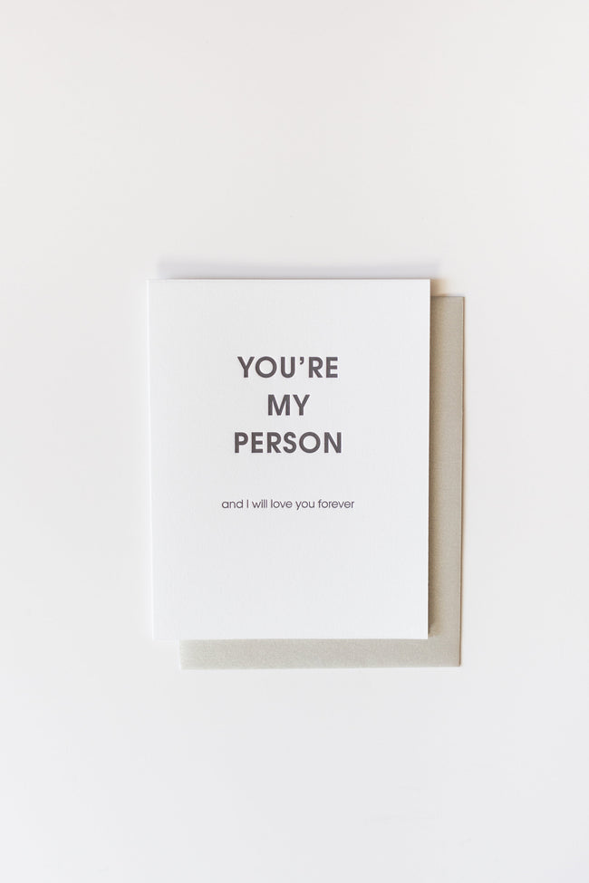 Chez Gagné - You're My Person Letterpress Card