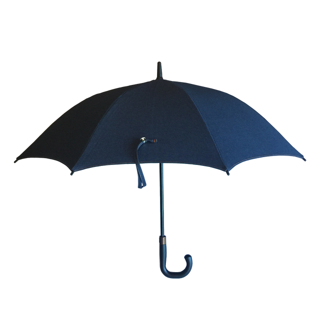 The San Francisco Umbrella Company - Sunbrella™ Large Blue Jean Sun and Rain Protection Umbrella
