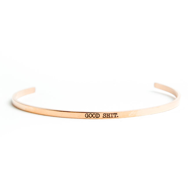 Twisted Wares - Good Shit Rose Gold Delicate Bangle