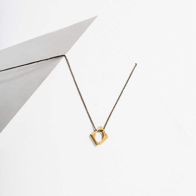 Polymath Necklace - Open Diamond