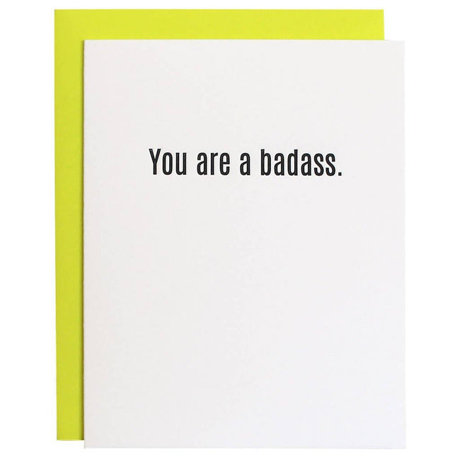 You Are a Badass Letterpress Card