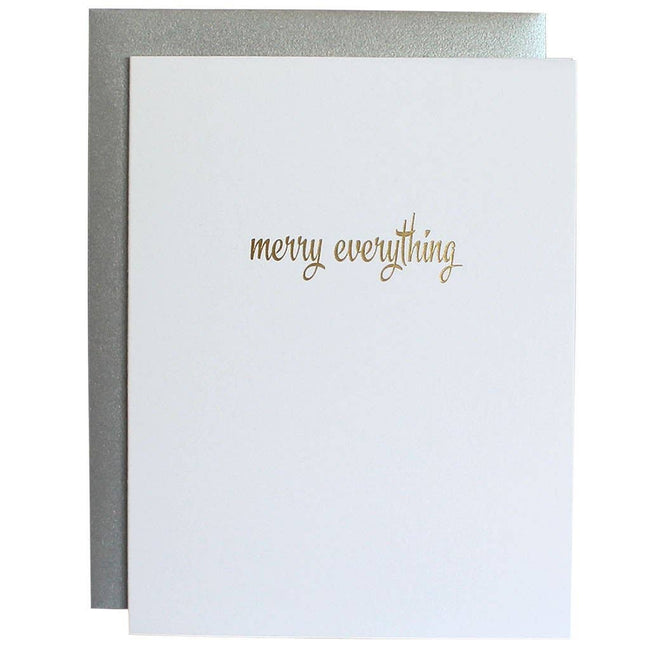 Chez Gagné - Merry Everything Gold Foil Card