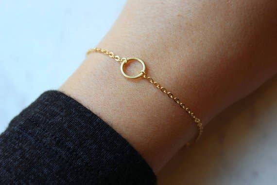 Laalee Jewelry - Gold Circle Bracelet