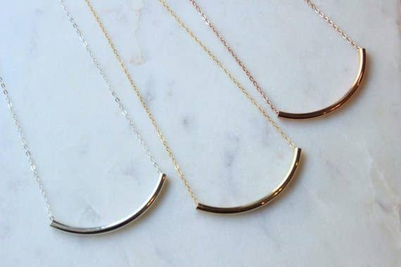Laalee Jewelry - Curved Tube Necklace