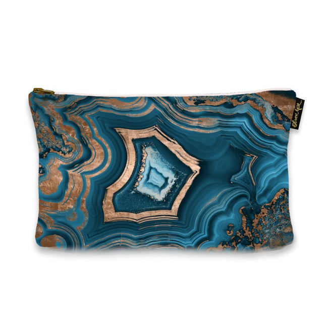 The Oliver Gal Artist - Oliver Gal 'Dreaming About You Geode' Pouch (Size 13x9)