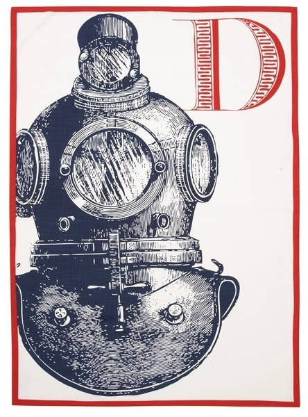 D Diver Tea Towel