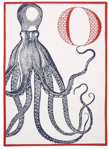 THOMASPAUL - O Octopus Tea Towel