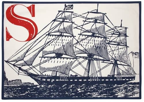 S Ship Tea Towel