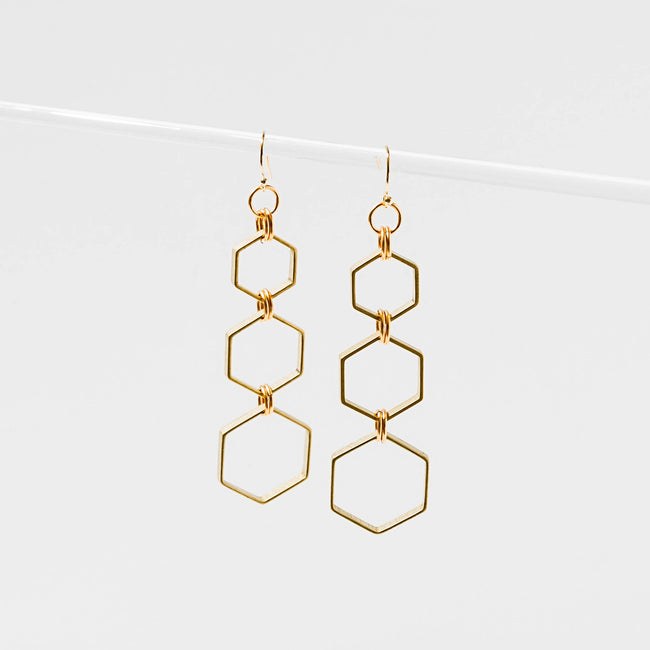 Larissa Loden Jewelry - Hexacomb Earrings